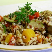 bulgur e quinoa alle verdure light