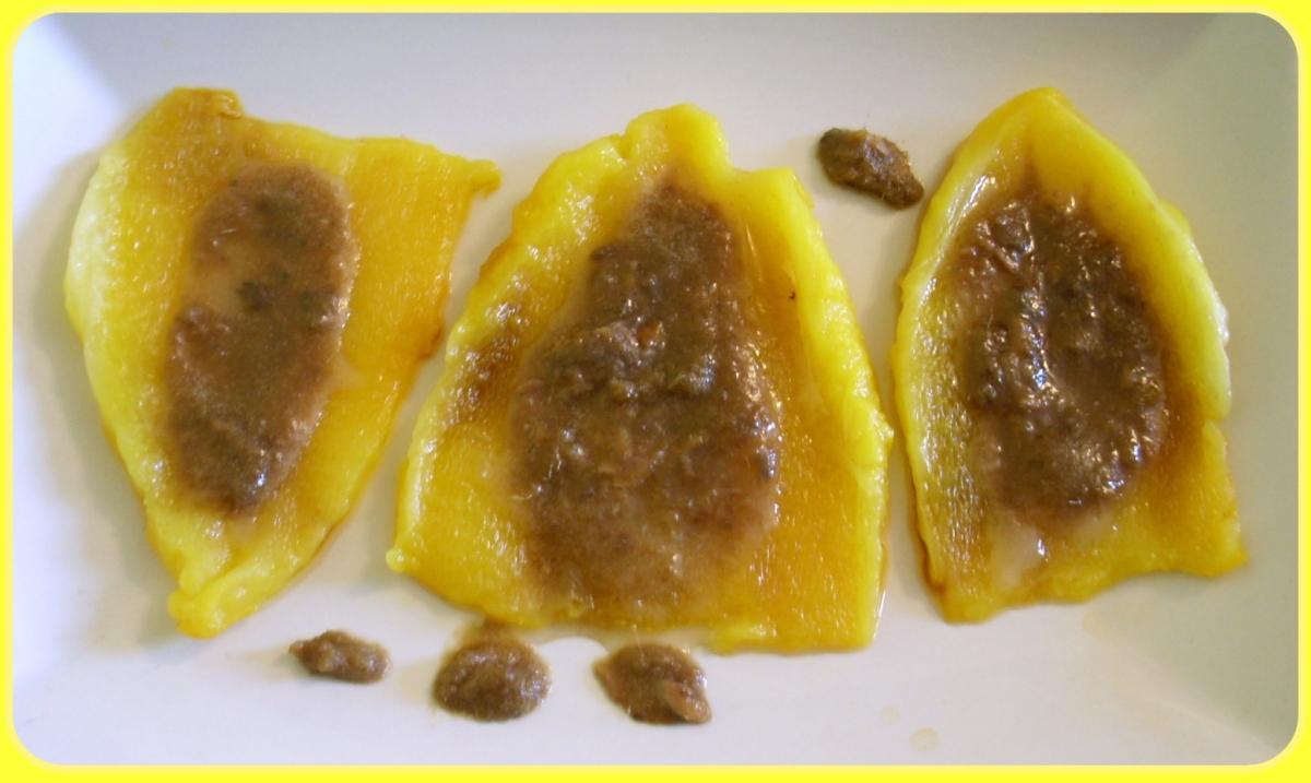 Peperoni gialli con finta bagna cauda